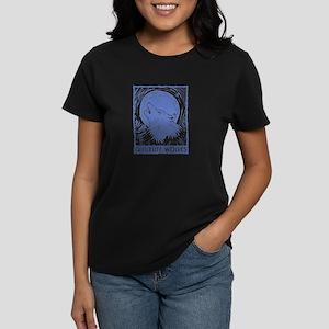 Quileute Wolves (linocut) Women's Dark T-Shirt