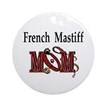 French Mastiff Ornament (Round)