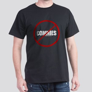 No Commies Black T-Shirt