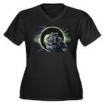 Portent Women's Plus Size V-Neck Dark T-Shirt