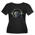 Portent Women's Plus Size Scoop Neck Dark T-Shirt