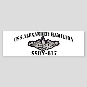 USS ALEXANDER HAMILTON Sticker (Bumper)