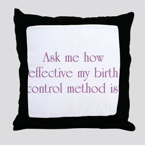 Birth Control Throw Pillow