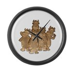 Gold Cows Large Wall Clock