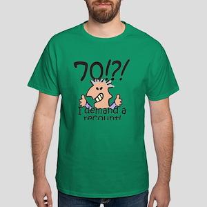 Recount 70th Birthday Dark T-Shirt