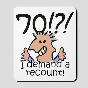 Recount 70th Birthday Mousepad