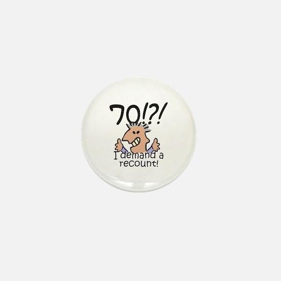Recount 70th Birthday Mini Button