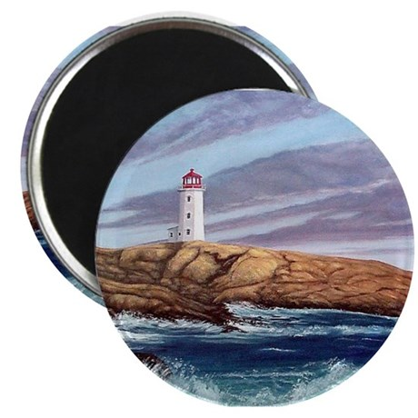 """Peggy's Cove Lighthouse 2.25"""" Magnet (10 pack)"""