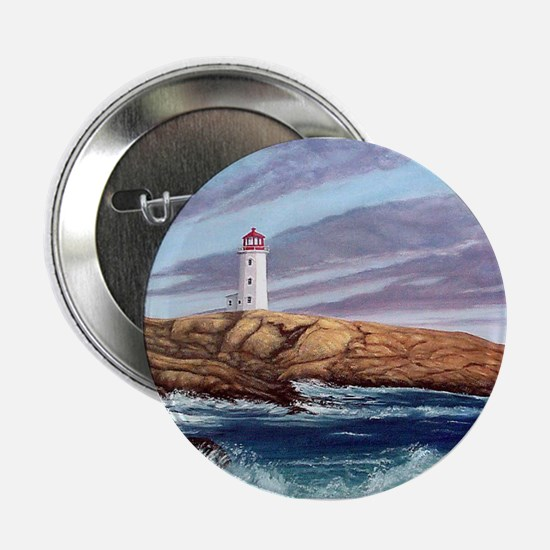 "Peggy's Cove Lighthouse 2.25"" Button"