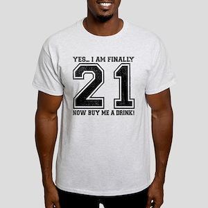 21st Birthday Light T-Shirt