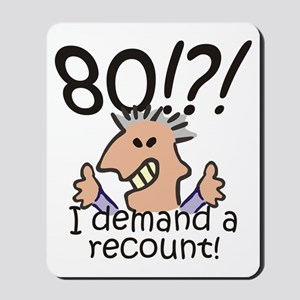 Recount 80th Birthday Mousepad