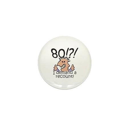 Recount 80th Birthday Mini Button (10 pack)