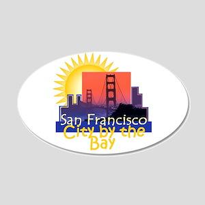 San Francisco 22x14 Oval Wall Peel