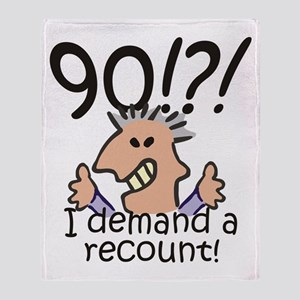 Recount 90th Birthday Throw Blanket