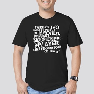 Saxophone Player Men's Fitted T-Shirt (dark)