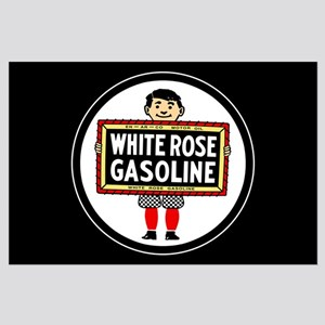 White Rose Gasoline Large Poster