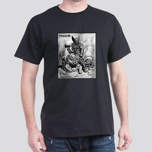 THOR WITH THRALLS AND CHARIOT Dark T-Shirt