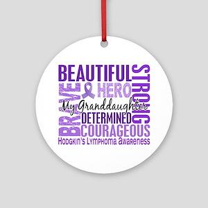 I Wear Violet 46 Hodgkin's Lymphoma Ornament (Roun