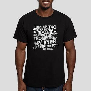 Trombone Player Men's Fitted T-Shirt (dark)