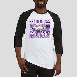 I Wear Violet 46 Hodgkin's Lymphoma Baseball Jerse