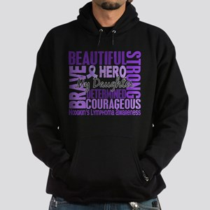 I Wear Violet 46 Hodgkin's Lymphoma Hoodie (dark)