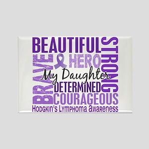 I Wear Violet 46 Hodgkin's Lymphoma Rectangle Magn