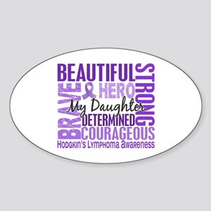 I Wear Violet 46 Hodgkin's Lymphoma Sticker (Oval)