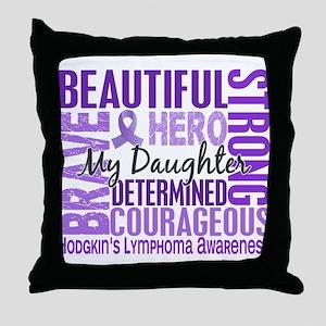 I Wear Violet 46 Hodgkin's Lymphoma Throw Pillow
