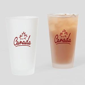 Canada Leaf Script Pint Glass