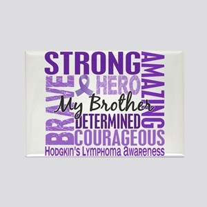 Tribute Square Hodgkin's Lymphoma Rectangle Magnet