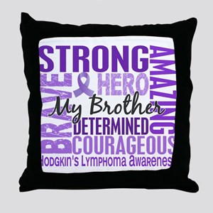 Tribute Square Hodgkin's Lymphoma Throw Pillow