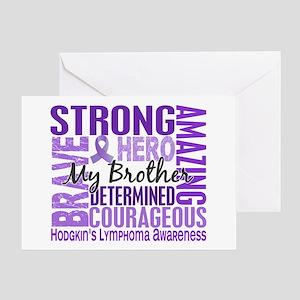 Tribute Square Hodgkin's Lymphoma Greeting Card