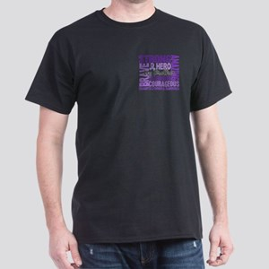 Tribute Square Hodgkin's Lymphoma Dark T-Shirt