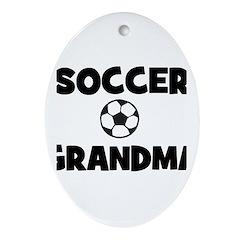 Soccer Grandma Oval Ornament