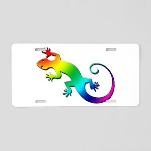 Rainbow Gecko Aluminum License Plate