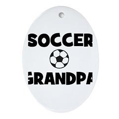 Soccer Grandpa Oval Ornament