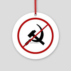 Sickle & Hammer No Communists Ornament (Round)