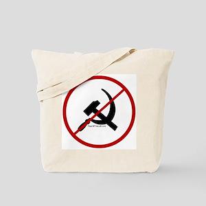 Sickle & Hammer No Communists Tote Bag