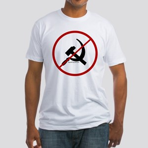 Sickle & Hammer No Communists Fitted T-Shirt