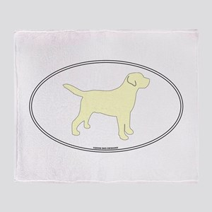 Yellow Lab Outline Throw Blanket