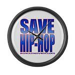 Save Hip-Hop Large Wall Clock