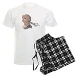 Creepy Doll Head Men's Light Pajamas