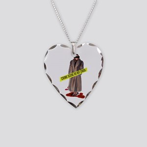 Crime Scene Necklace Heart Charm