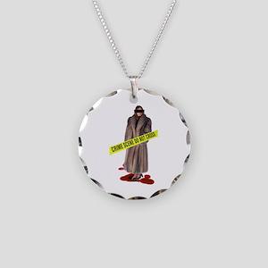 Crime Scene Necklace Circle Charm