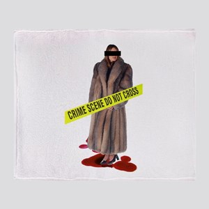 Crime Scene Throw Blanket
