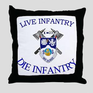 1st Bn 23rd Infantry Throw Pillow