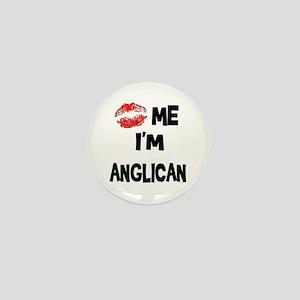 Kiss Me I'm Anglican Mini Button