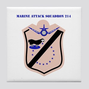Marine Attack Squadron 214 with Text Tile Coaster