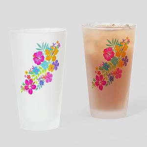 Tropical Flowers Pint Glass