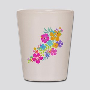 Tropical Flowers Shot Glass